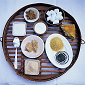 Still life with various sweeteners