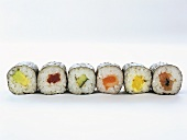 Several maki-sushi