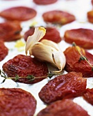 Oven-dried tomatoes with garlic