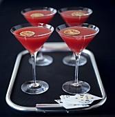 Watermelon Martini (watermelon syrup with vodka)