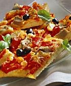 Pizza rustica (tray-baked pizza), Calabria, Italy