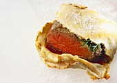 Roast beef in salt dough
