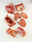 Various cuts of veal