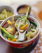 Korean duck and leek stew