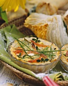 Small vegetable quiche