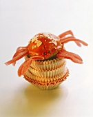 Crab cake (muffin with crab-shaped icing)