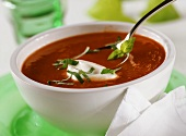 Quick tomato soup with sour cream