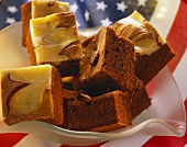 Brownies, Stars and Stripes in background