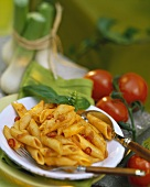 Penne with chili tomato sauce