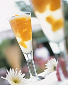 Champagne cocktail with mandarins