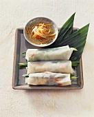 Rice paper rolls with raw vegetable salad (Vietnam)