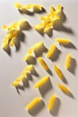 Various pasta spirals and penne