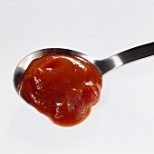 Ketchup in spoon