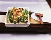 Asparagus and courgette bake with chicken fillet
