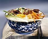 Bibimbab (rice with beef and vegetables, Korea)