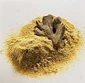 Ginger, ground and dried root