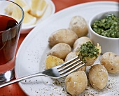 Wrinkled potatoes with coriander mojo (Canary Islands)