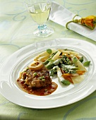 Ossobuco with vegetables in mascarpone sauce