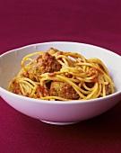 Spaghetti with turkey balls