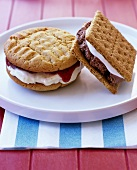 Ice cream sandwiches (biscuits with ice cream filling)