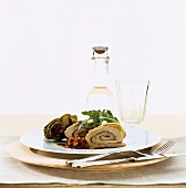 Pork roulade with herb stuffing