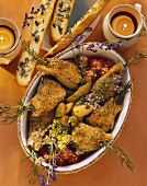 Lamb cutlets with herbes de Provence