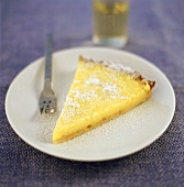 A piece of lime tart