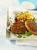 Nut burgers with Chinese cabbage