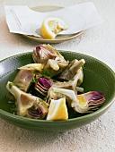 Artichokes with sherry vinaigrette