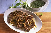 Lamb cutlet with herb marinade