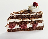 A piece of Black Forest cherry cake