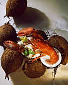 Lobster salad with coconut