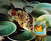 Brasse mit Garnelensauce (Indonesien)