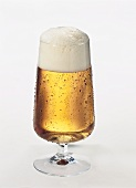 A glass of Helles (lager beer)