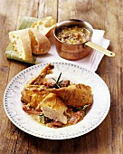 Faraona al rosmarino (Roast guinea-fowl with rosemary)
