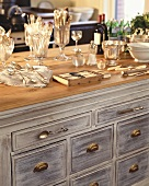 Sideboard with silver cutlery