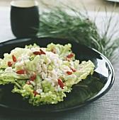 Shrimp and medlar salad