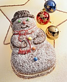 Snowman with coconut cream filling