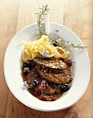Brasato alla lombarda (Pot roast beef with olives)