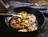 Beefsteak, hamburger style