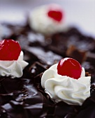 Black Forest cherry gateau (close-up)