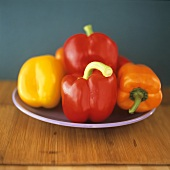 Assorted bell peppers in different colours