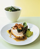 Roast pork loin with crackling