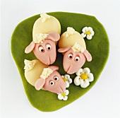 Marzipan sheep