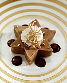 Chestnut puree with cream topping