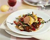 Lamb cutlet with polenta crust