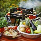 Barbecue with barbecue food