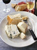 Cheese plate with Gorgonzola, Parmesan and Taleggio