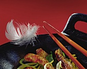 Picture symbolising meat and poultry cooked in wok