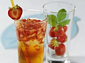 Strawberry and apple juice drink
